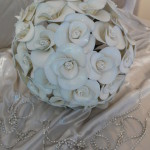 Bridal bouquet created from fantasy flowers